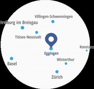 Standortkarte Schreinerei Schmid in Eggingen